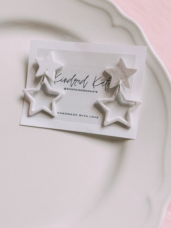 ★KINDRED KATE Double Star Earrings★