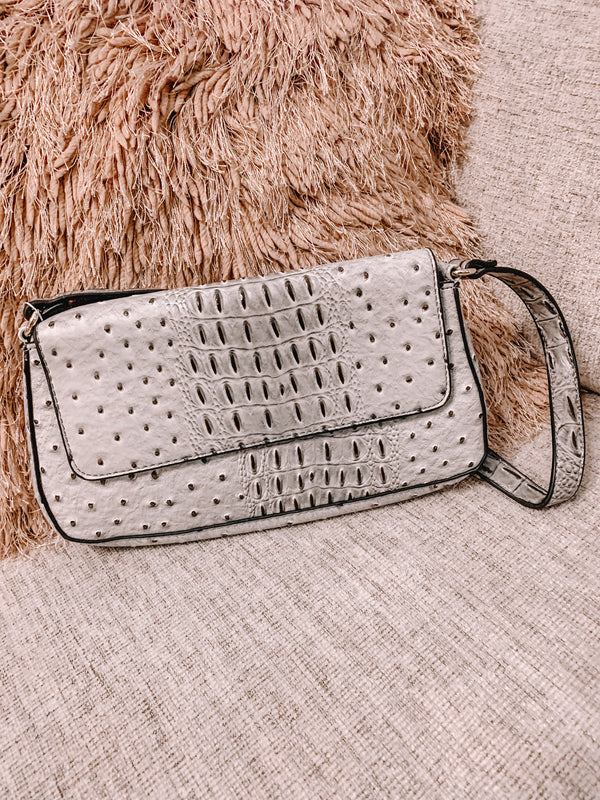 Nobody's Love Grey Shoulder Purse