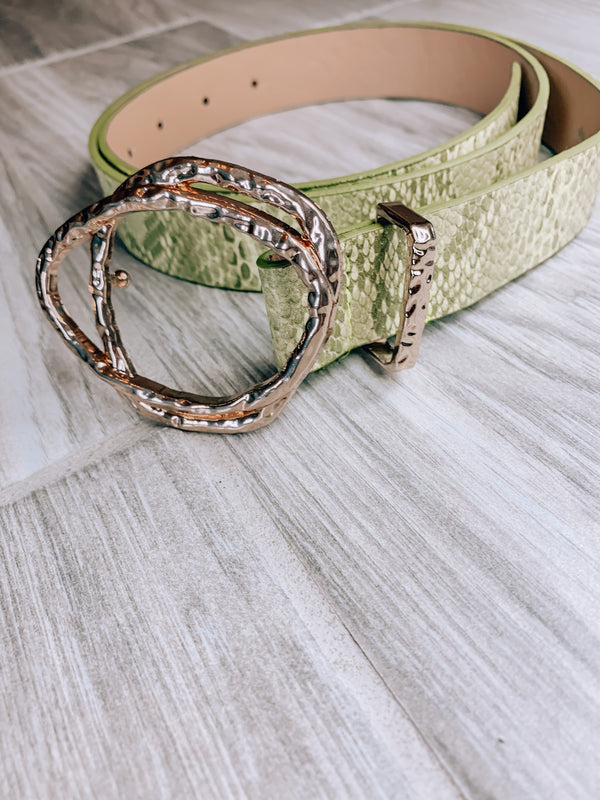 Green Snakeskin Belt