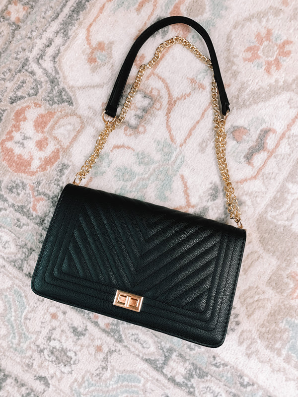 Bo$$ Babe Quilted Black Purse