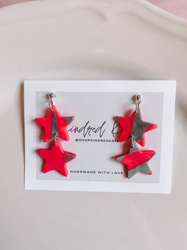 ★KINDRED KATE Seeing Double Star Earrings (2 colors) ★