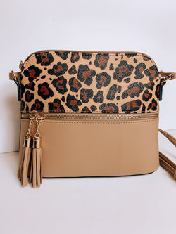 Tan Cheetah Crossbody Bag