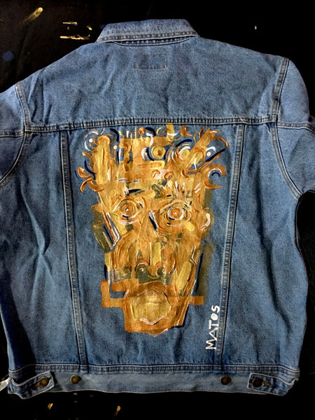 Painted Denim Jacket #3