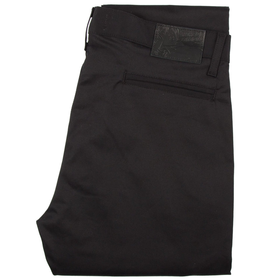 Slim Chino Stretch Twill Black - marsclothing