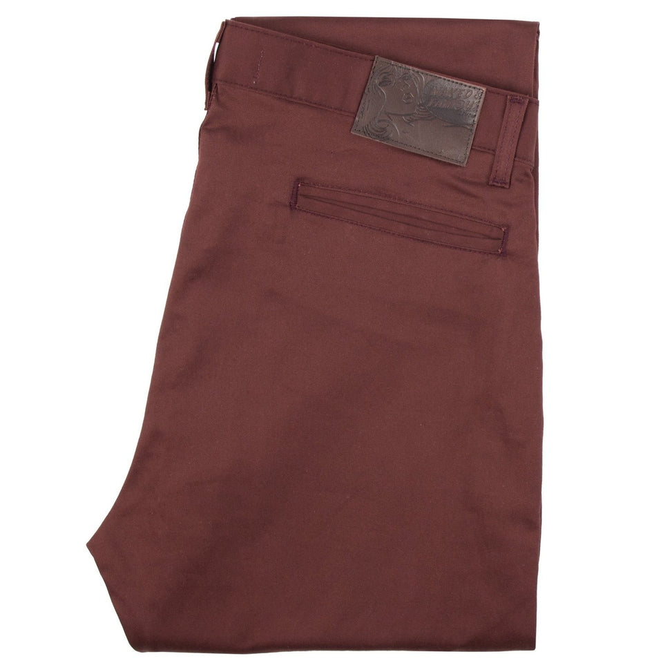 Slim Chino Stretch Twill Burgundy - marsclothing