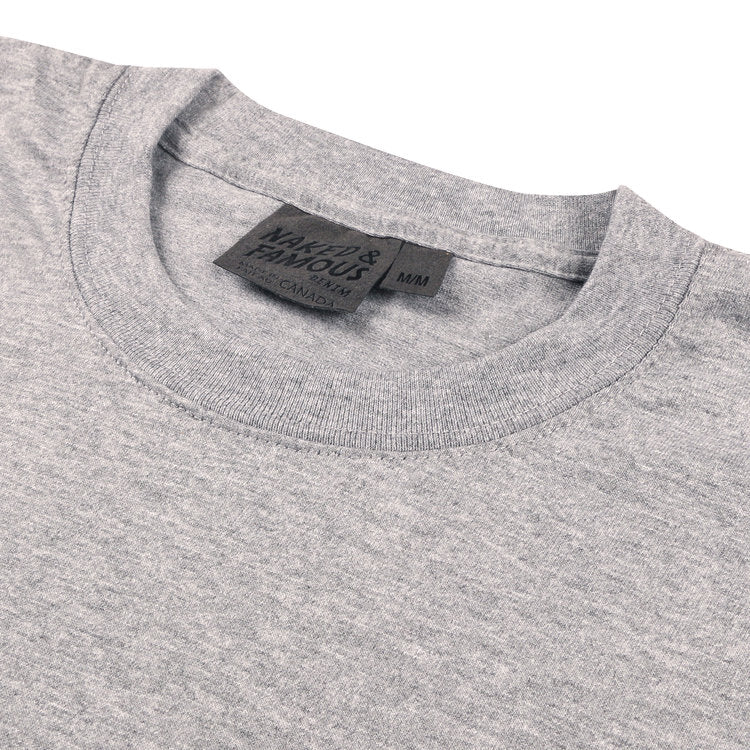 Circular Tee Heather Grey