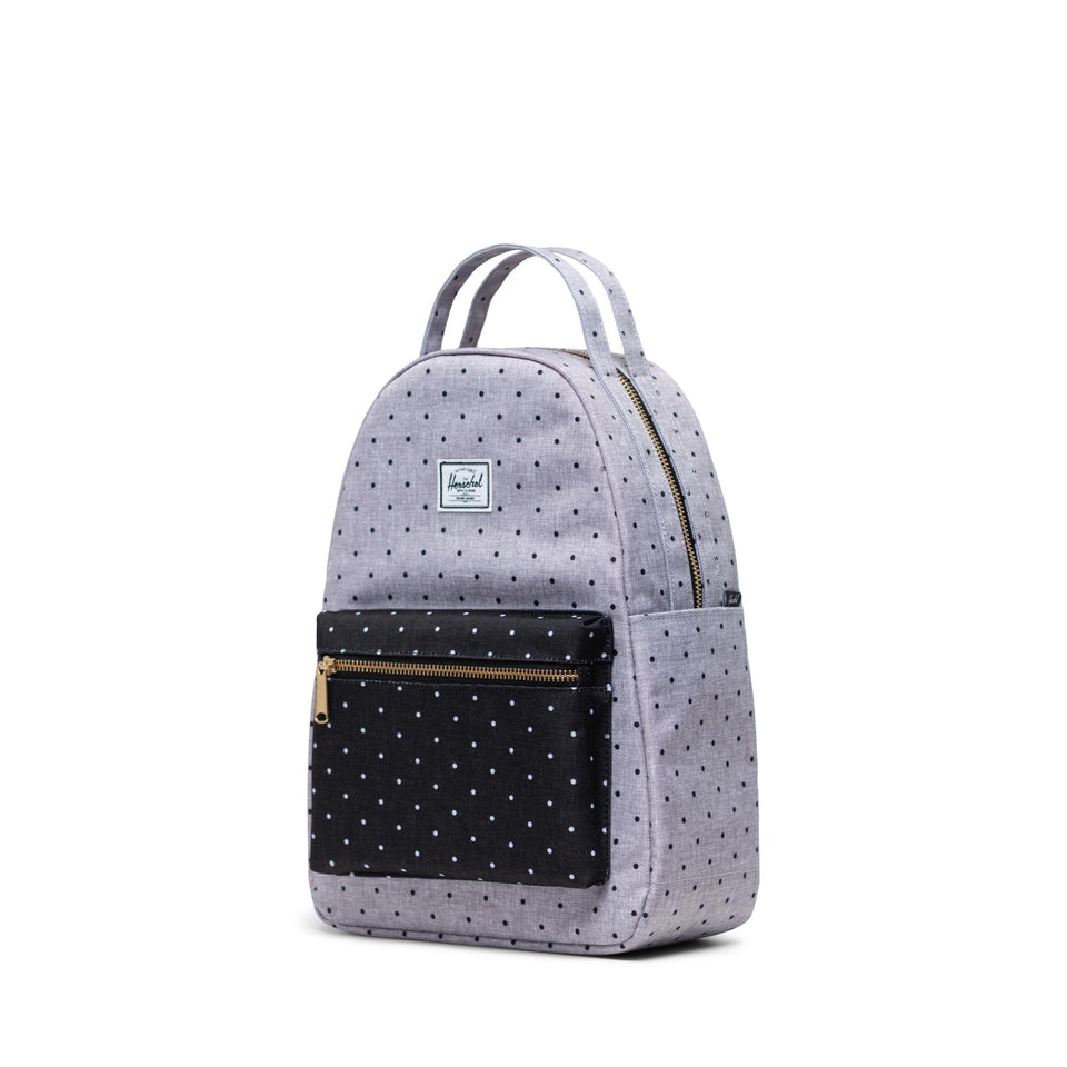 Nova Small Polka Dot Crosshatch Grey/Black - marsclothing