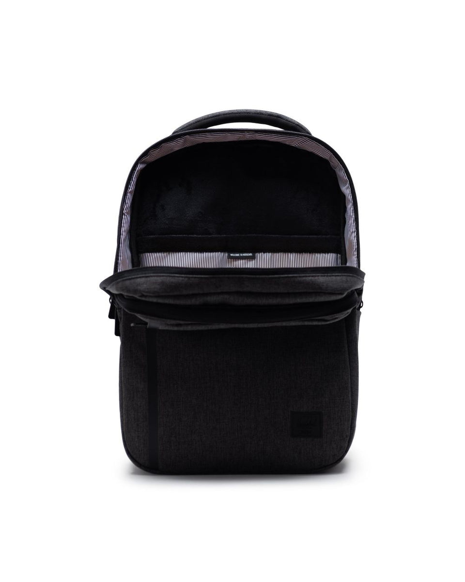 Travel Daypack Black Crosshatch - marsclothing