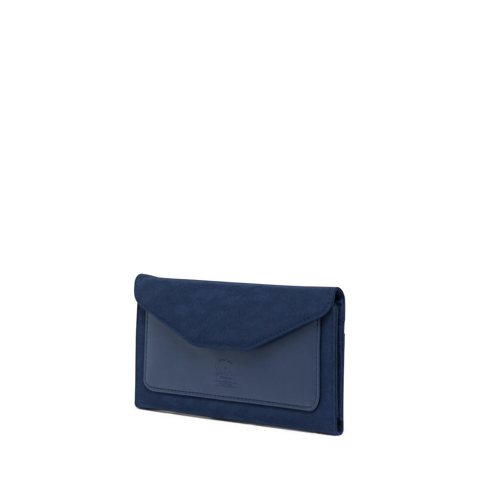 Orion Wallet Large Leather Peacoat - marsclothing