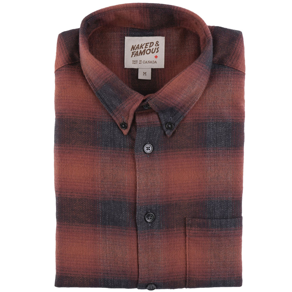 Easy Shirt Brushed Plaid Red