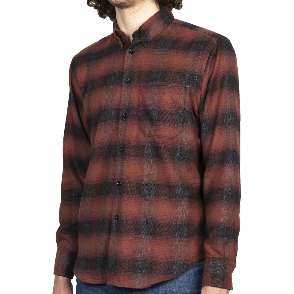 Easy Shirt Brushed Plaid Red - marsclothing