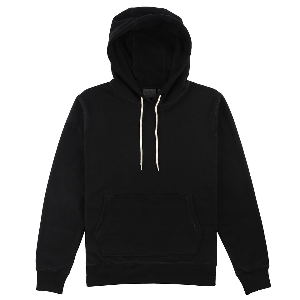 French Terry Hoodie Heavyweight Black