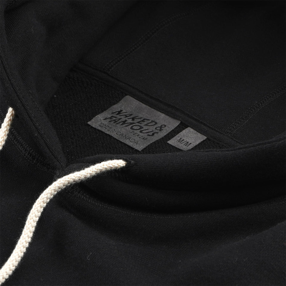French Terry Hoodie Heavyweight Black - marsclothing