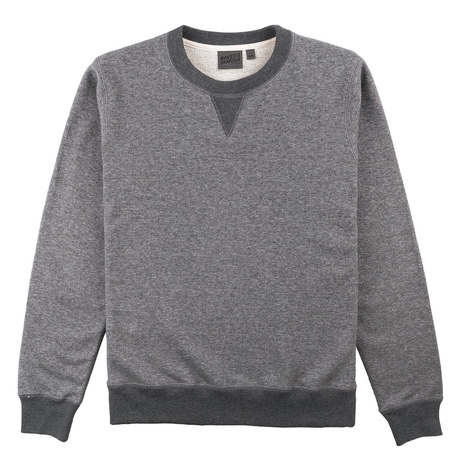 French Terry Crewneck Heavyweight Charcoal - marsclothing