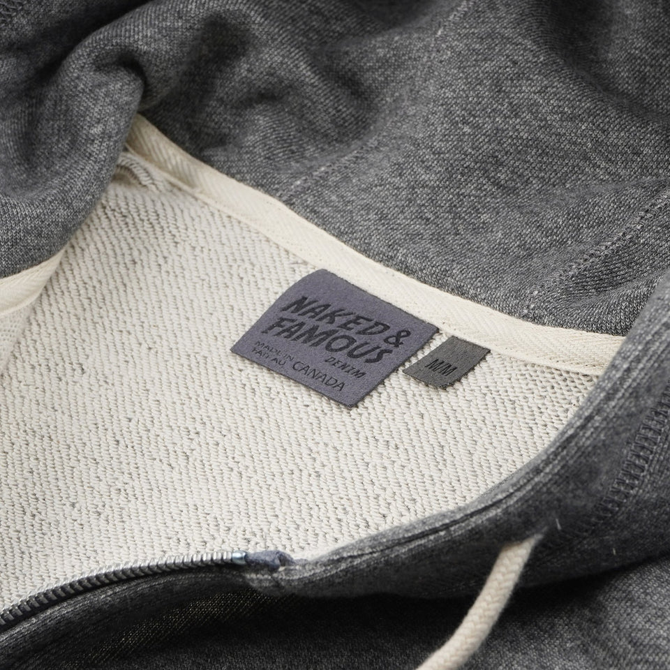 ZIp Hoodie French Terry Charcoal - marsclothing