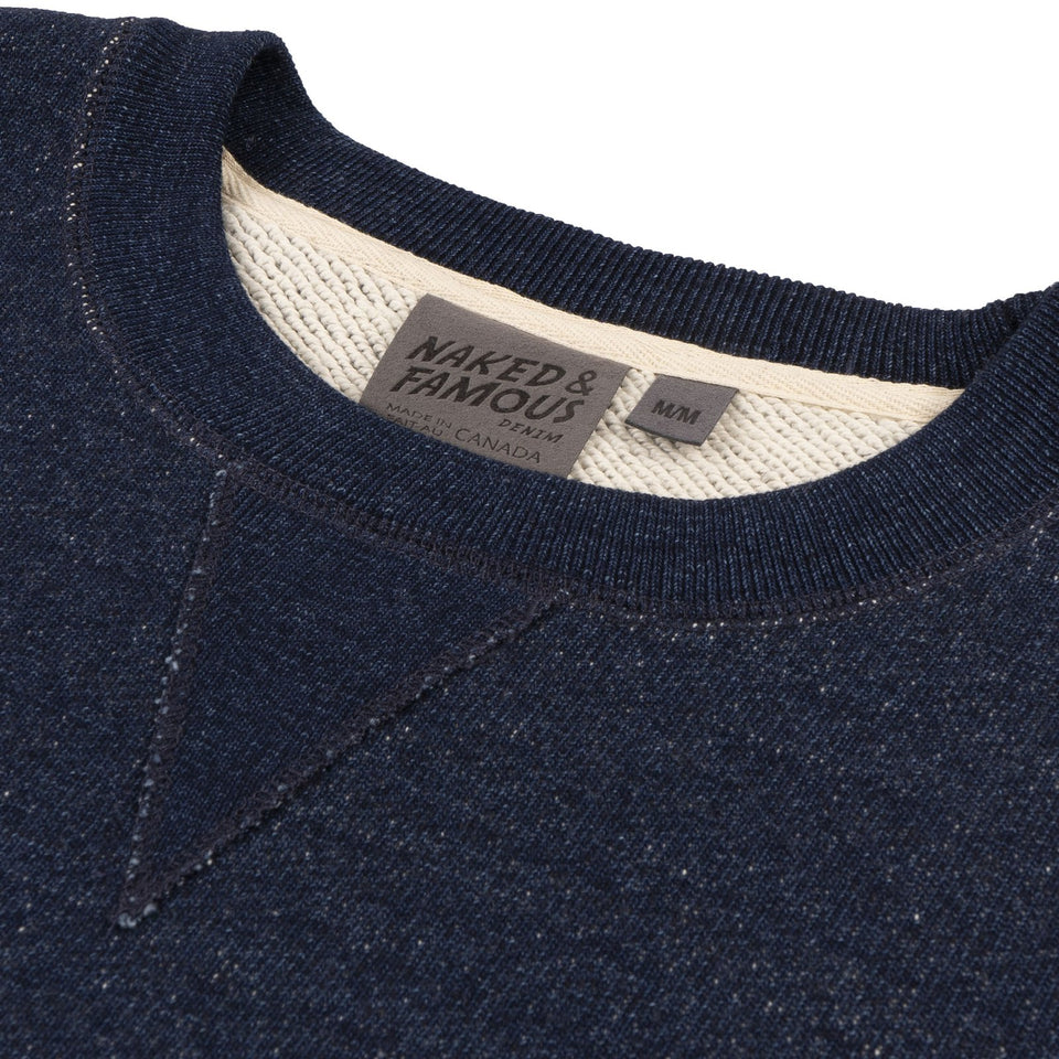 Heavyweight Terry Real Indigo Crewneck - marsclothing