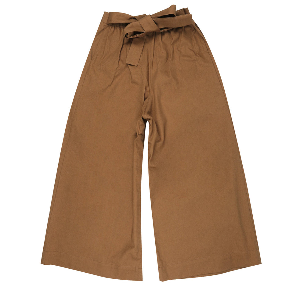 Wide Pant Rinsed Oxford Camel - marsclothing