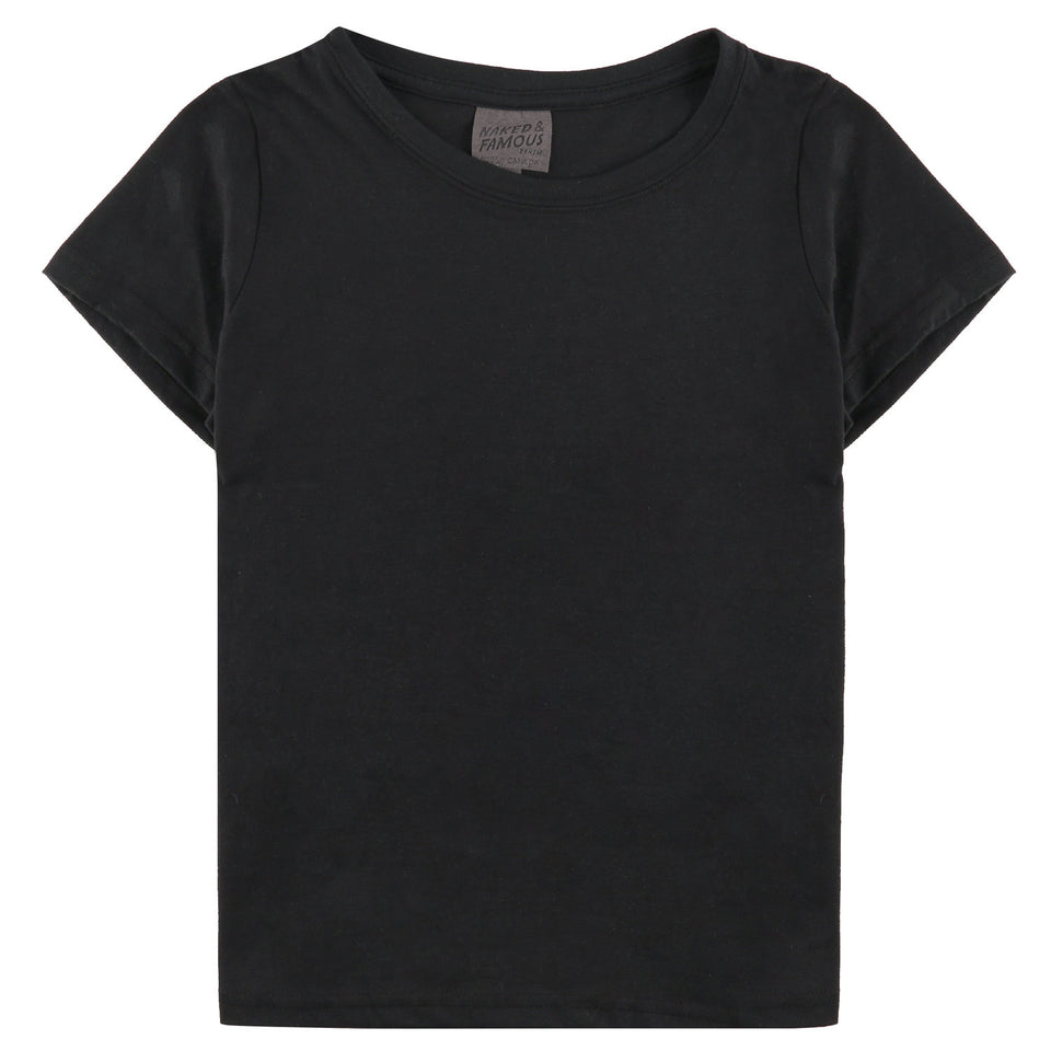 Womens Circular Tee Black - marsclothing