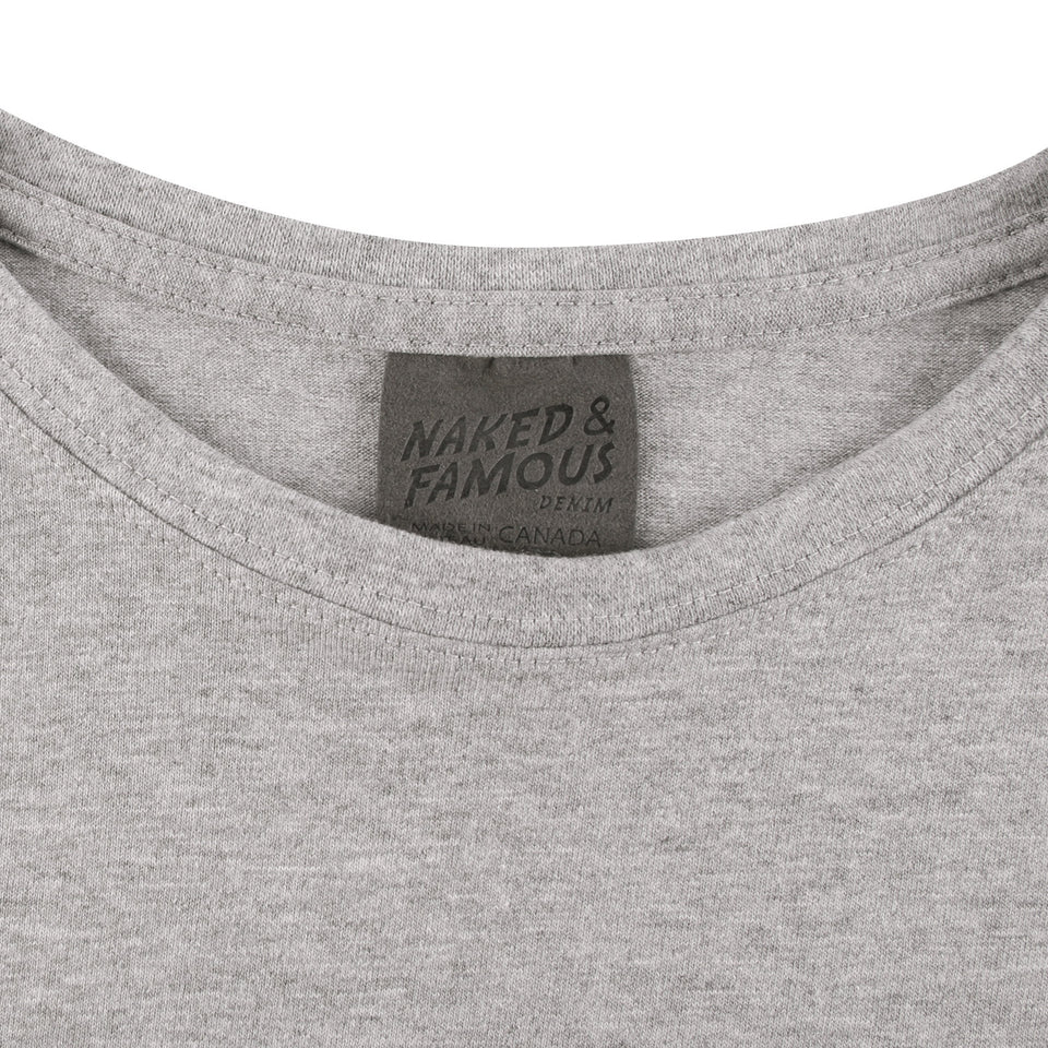 Womens Circular Tee Grey - marsclothing