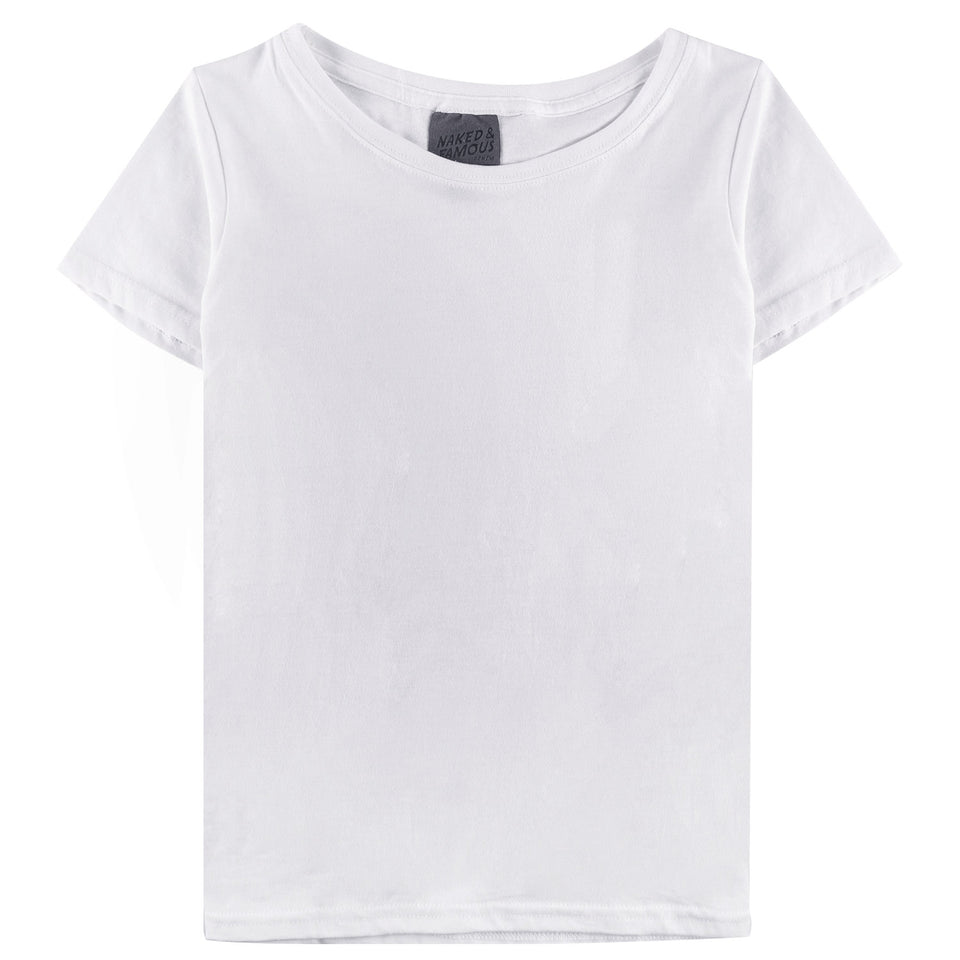 Womens Circular Tee White - marsclothing