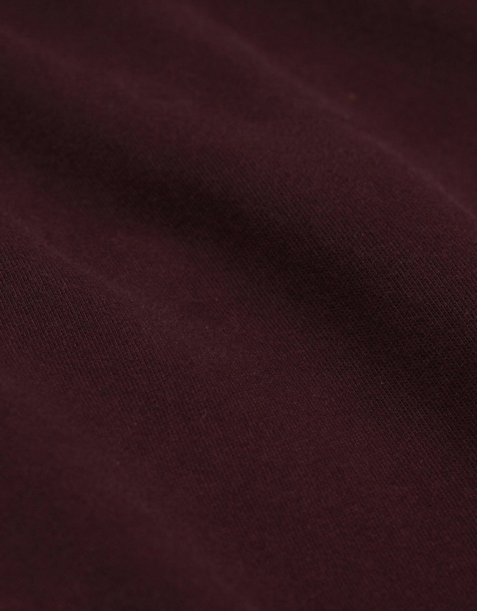 Organic Crew Oxblood Red - marsclothing