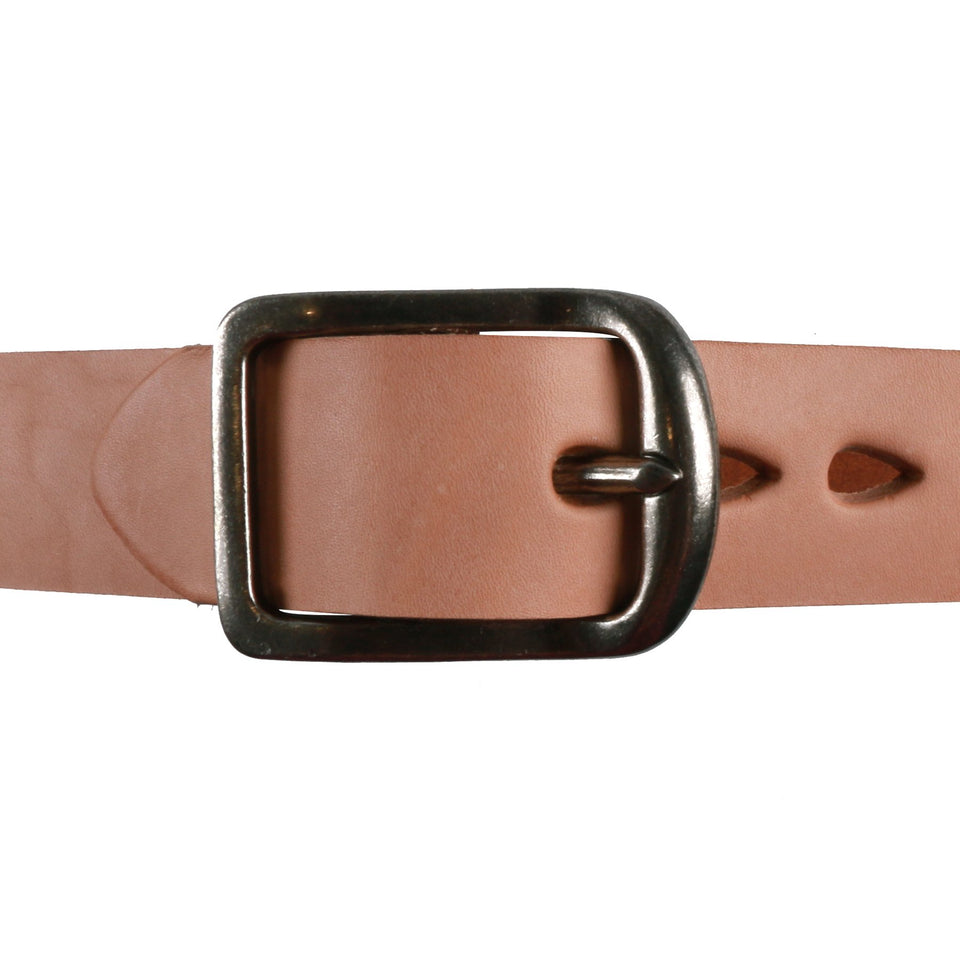 Natural Thick 7mm Leather Belt - marsclothing