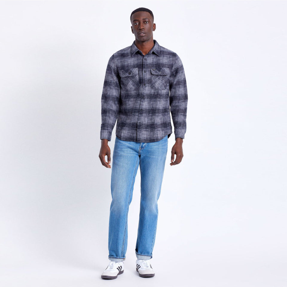 Bowery Reserve Flannel Black/Grey - marsclothing