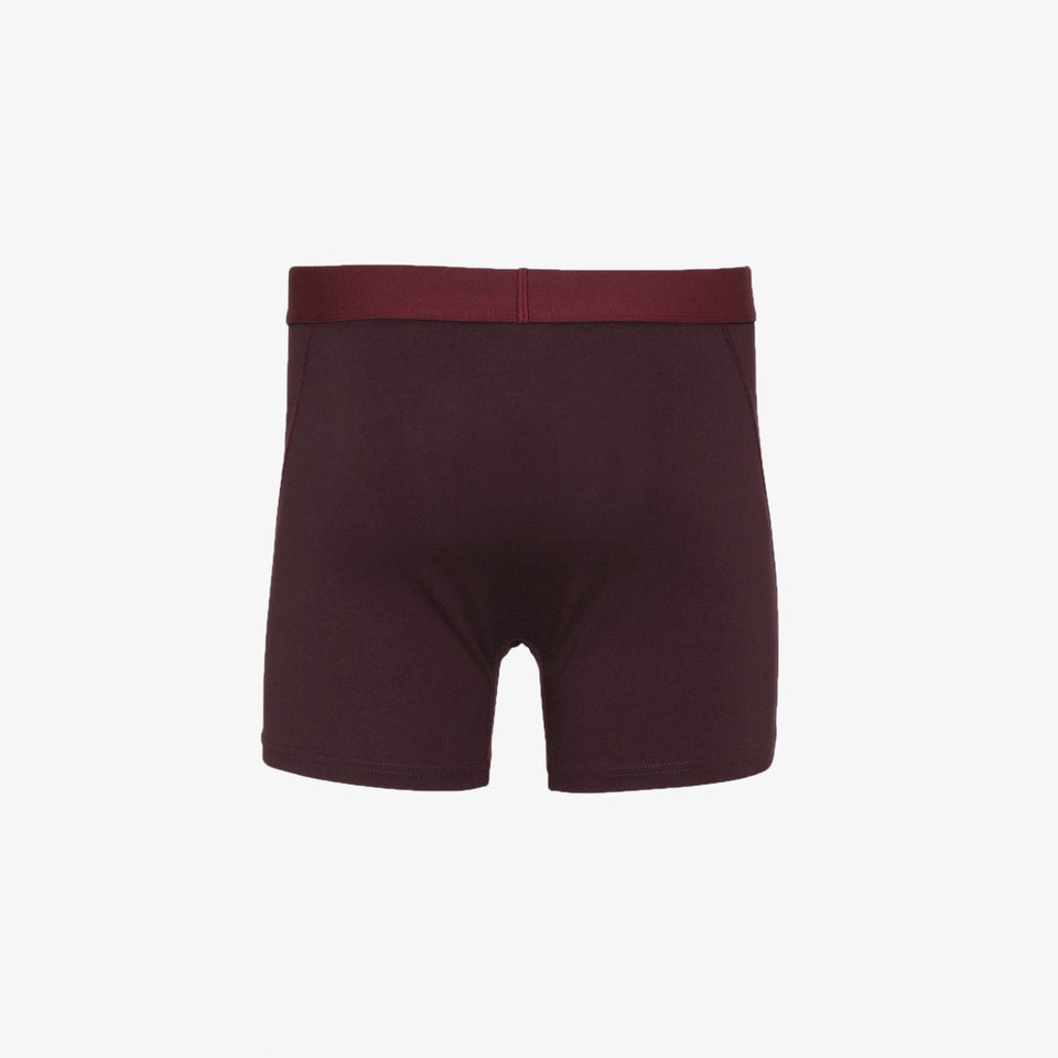 Organic Boxer Briefs Oxblood Red - marsclothing