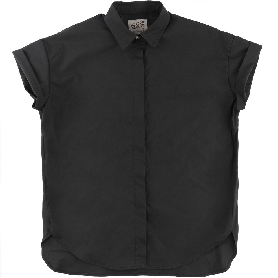 Bubble Blouse Black - marsclothing