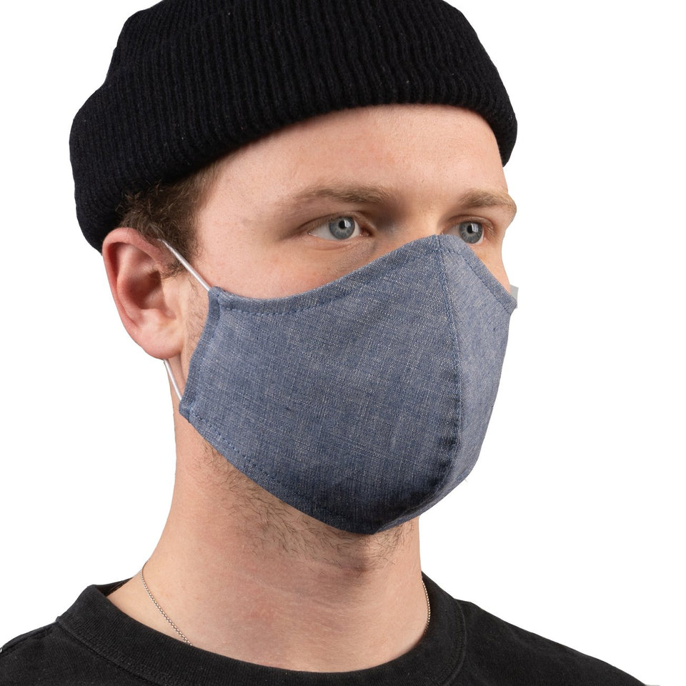 Protection Face Mask Selvedge Chambray - marsclothing