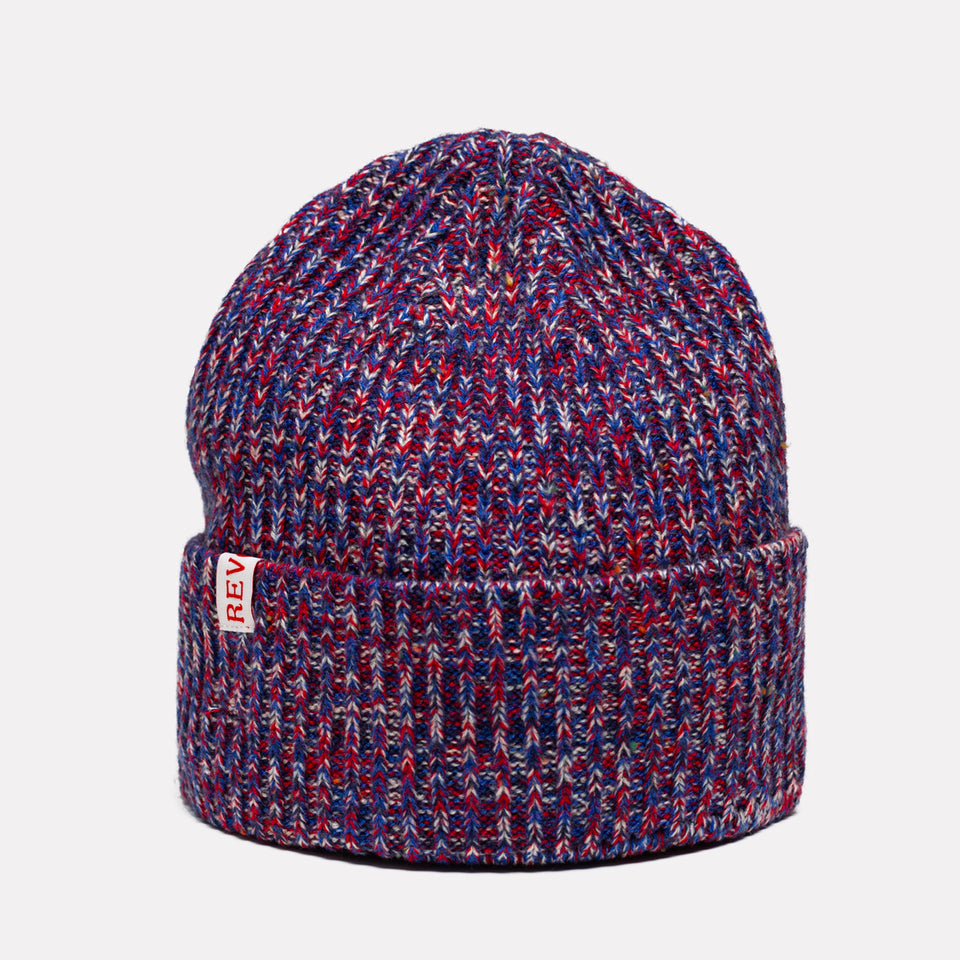 Structured Beanie Red/Blue