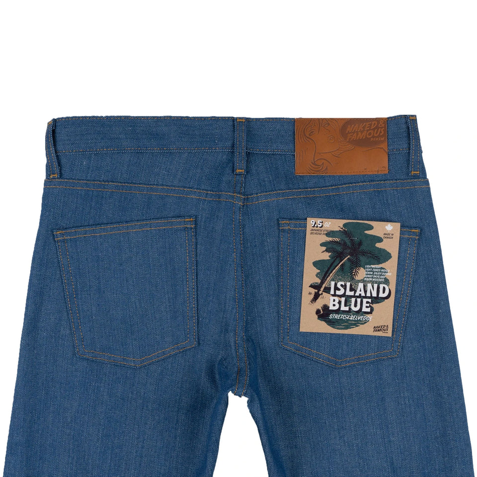 Super Guy Island Blue Stretch Selvedge - marsclothing