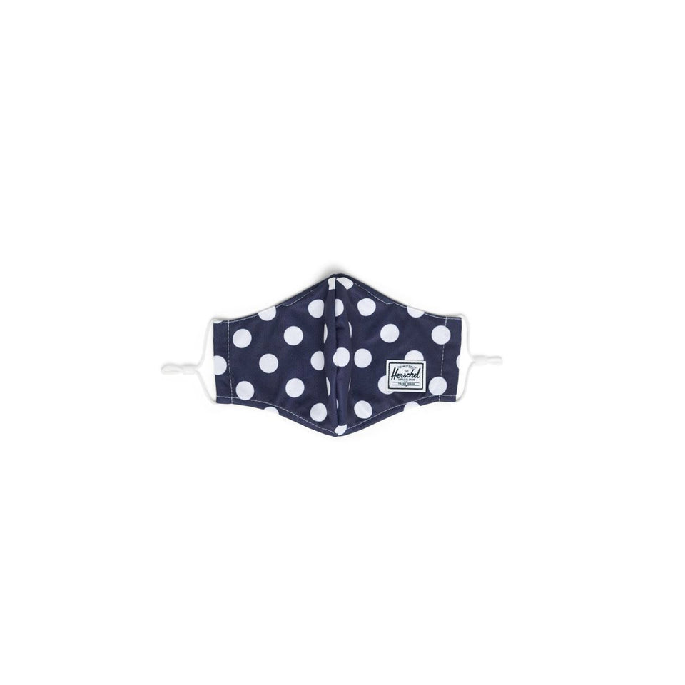 Classic Fitted Face Mask Navy Polka Dot - marsclothing