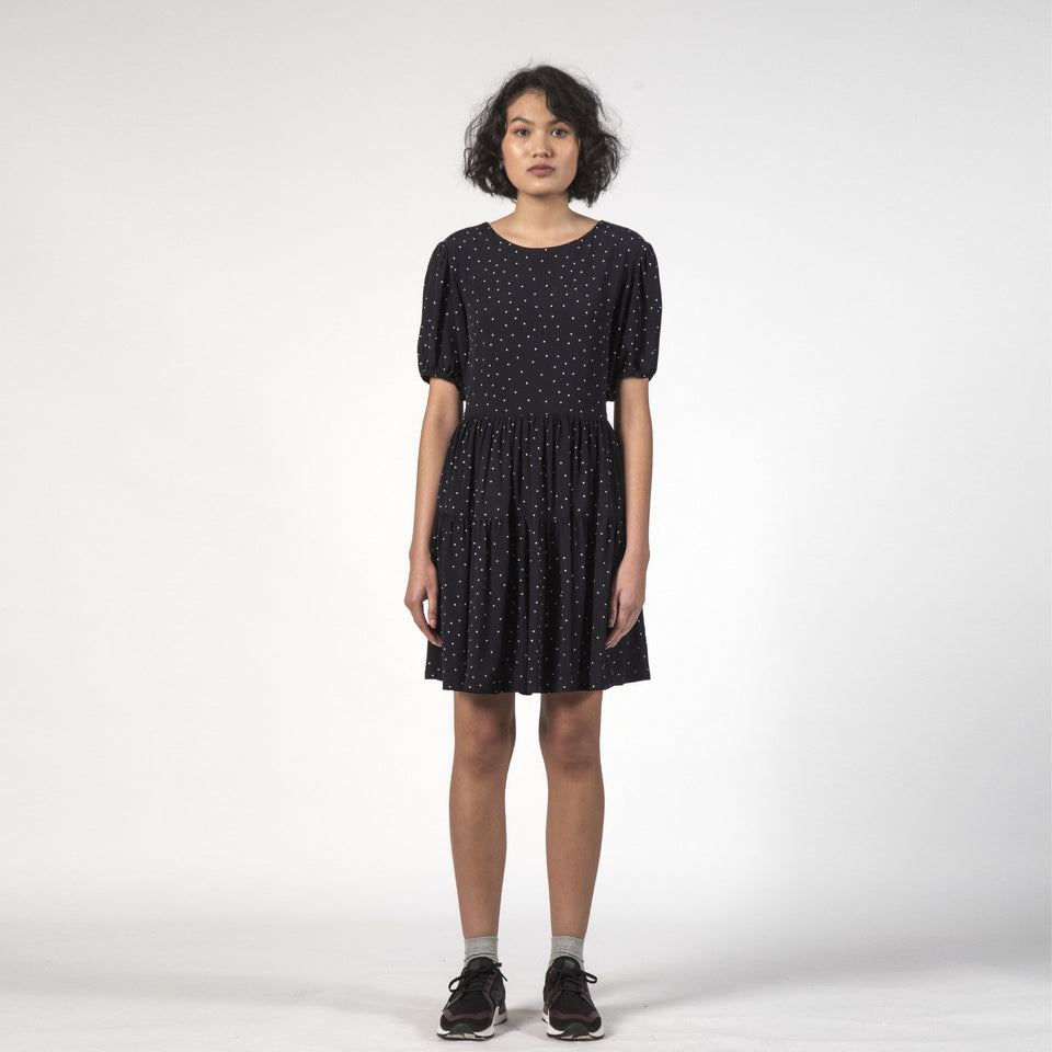 Poppy Dress Black Dot - marsclothing