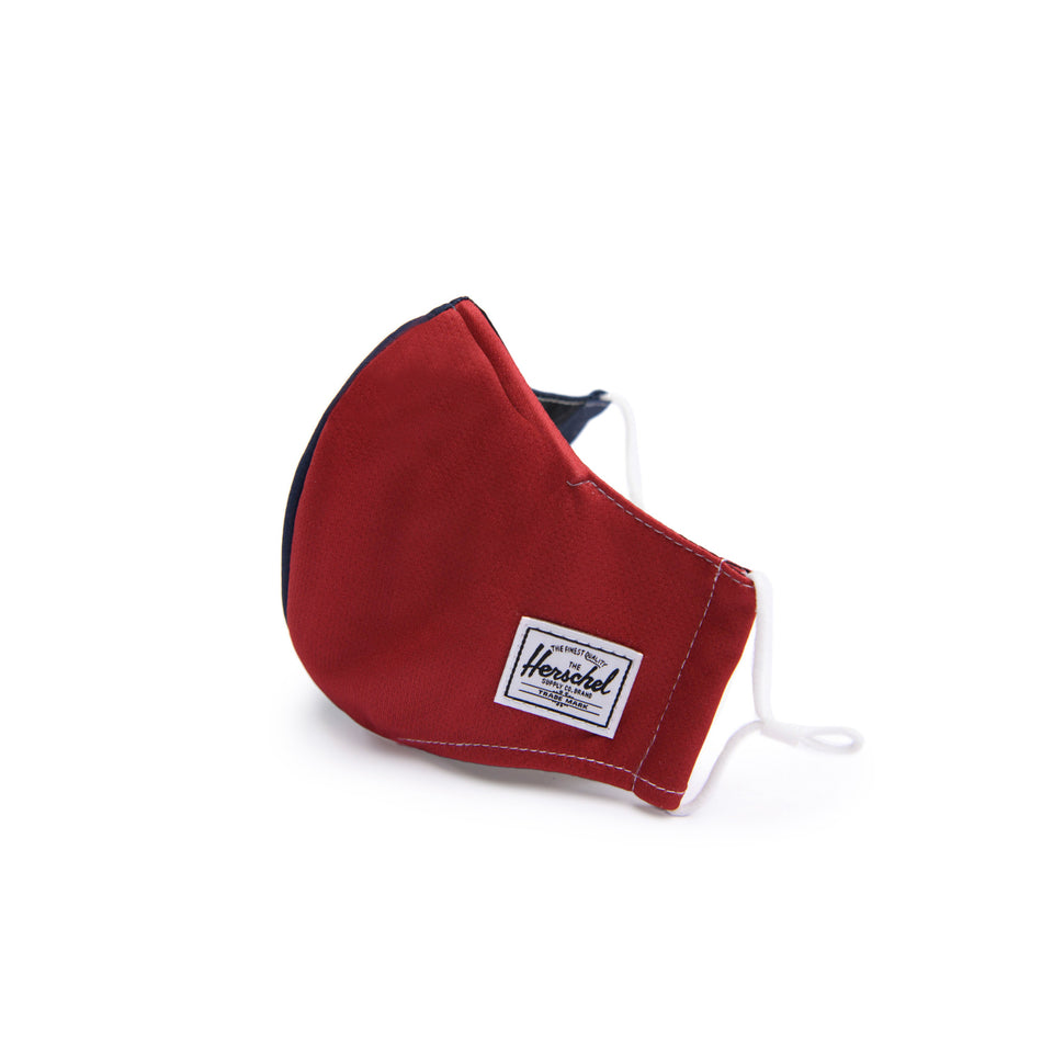 Classic Fitted Face Mask Red/Navy - marsclothing