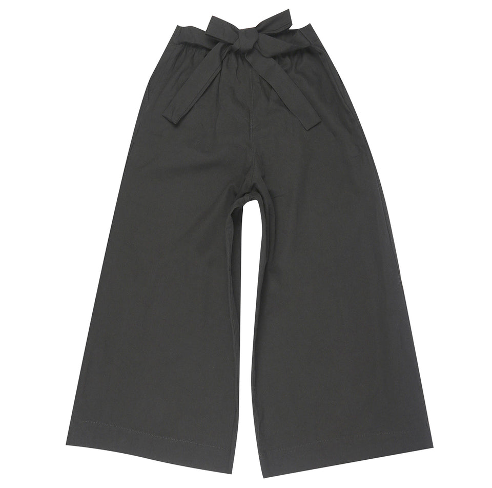 Wide Pant Rinsed Oxford Charcoal - marsclothing