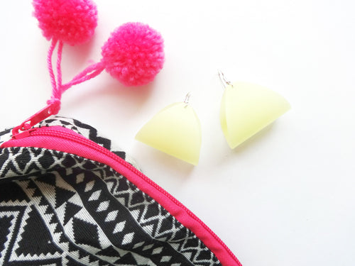 Waterproof Yellow Vegan Pool Earrings