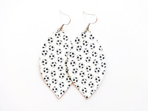 Soccer Leaf Vegan Leather Earring
