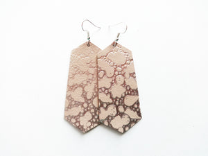 Silver Bubbles Jewel Genuine Leather Earring