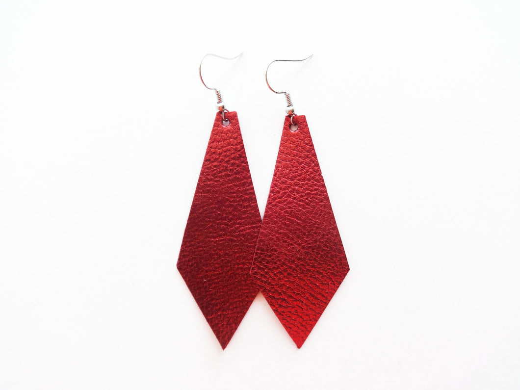 Syrah Diamond Vegan Leather Earring