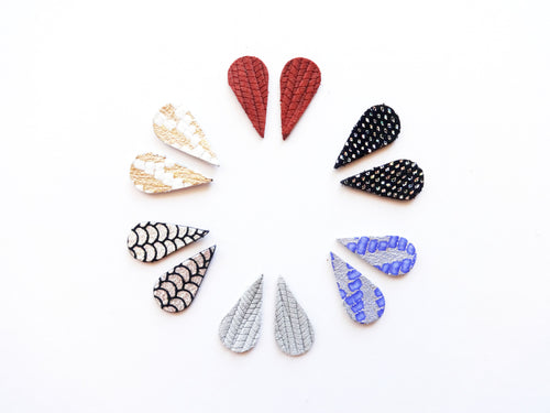 Spike Stud Genuine Leather Earring