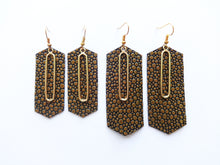 Golden Bubbles Double Layer Metal Crystal Genuine Leather Earring