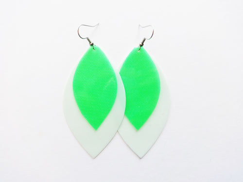Waterproof Double Layer Vegan Leaf Pool Earring