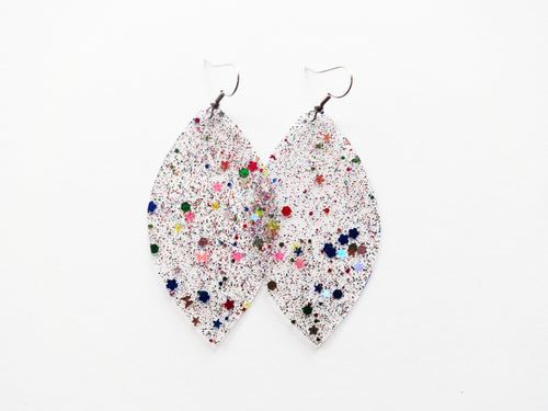 Waterproof Clear Vegan Leaf Pool Earrings