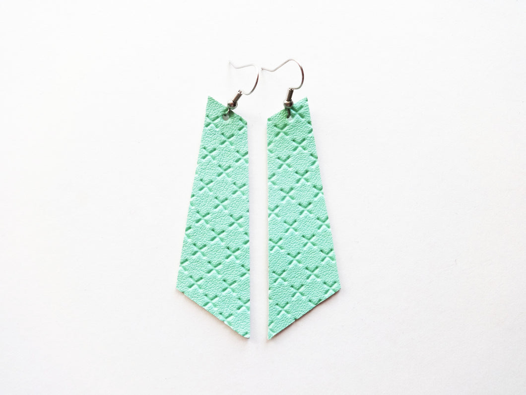 Minty Fresh Signature Vegan Leather Earrings