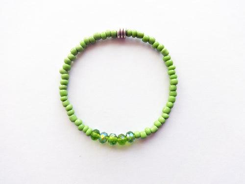 Lime Green Stacker Beaded Bracelet