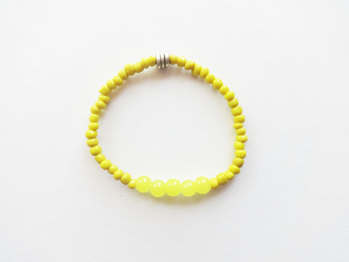 Yellow Stacker Beaded Bracelet