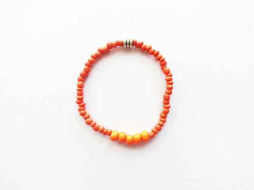 Orange Stacker Beaded Bracelet