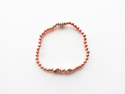 Rose Gold Stacker Beaded Bracelet