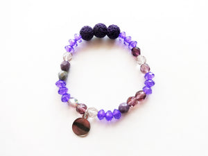 Purple Diffuser Beaded Bracelet